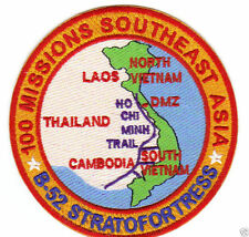 B-52 STRATOFORTRESS 100 MISSIONS PATCH OVER SOUTHEAST ASIA                   Y