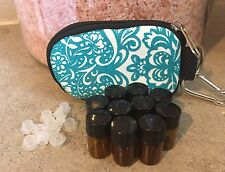 Essential Oils Keychain Case...10 SAMPLE BOTTLES INCLUDED..TEAL