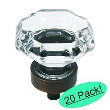 *20 Pack* Cosmas 5268ORB-C Oil Rubbed Bronze & Clear Glass Cabinet Knob