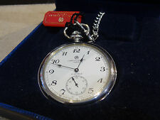 Charles Hubert Stainless White dial Mechanical Automatic pocket watch Vest