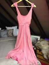 Vintage Pink All Saints Chiffon Silk Romantic Dress XS 6 Summer Wedding Event