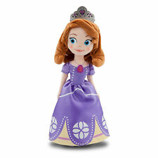 "Disney Store Authentic Princess Sofia the First Plush Toy Doll 13"" High NEW"
