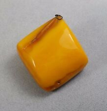 ANTIQUE VINTAGE BALTIC AMBER STONE / PENDANT/EGG YOLK BUTTERSCOTCH 20,8gr