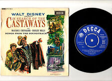 """HALEY MILLS & MAURICE CHEVALIER.IN SEARCH OF THE CASTERWAYS.UK ORIG 7"""" EP.EX/VG"""