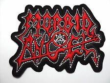 MORBID ANGEL SHAPED LOGO  EMBROIDERED PATCH