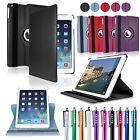 Für iPad Air 2 360° Smart Case Cover Schutz Hülle Etui Tasche Schale Kunstleder
