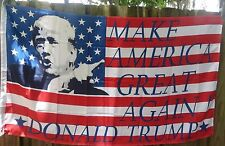 DONALD TRUMP FOR PRESIDENT 3X5 FLAG MAKE AMERICA GREAT AGAIN! Photo USA Sticker