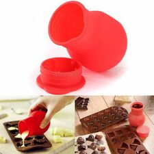 1x Silicone Chocolate Melting Pot Cup Melt Butter Milk Heating Sauce Pourer cans
