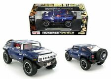 MAISTO 1:18 HUMMER WORLD HX CONCEPT DIECAST CAR BLUE 32117