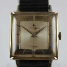 Vintage Swiss Made Hamilton 17J Cal.686 Rare Dial Square Case Watch LOT#0201