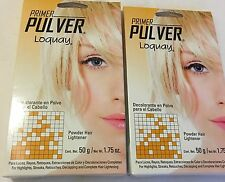 (2)Primer Pulver Loquay Powder hair ligther Decolorante(Pack of 2) 1.75 Oz