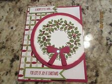 Christmas Wreath Handmade Greeting Card KIT - using Stampin Up products