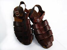 ROCKPORT Womens Brown Leather SANDALS Size 8,5M, Brazil ,New