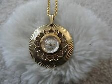 Pretty Swiss Made Hawthorne 17 Jewels Wind Up Necklace Pendant Watch - Problem