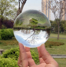Asian Quartz Clear Crystal Ball Sphere with Free Stand Home Decoration 50mm