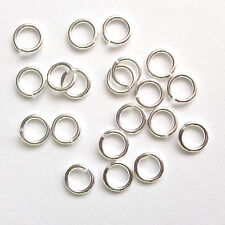10 Sterling Silver 5mm Open Jump Rings Findings
