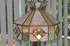 Beautiful Vintage Large Tiffany Style Art Stained Stained Glass Lamp shade Only