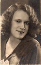 BK222 Carte Photo vintage card RPPC Femme woman portrait studio