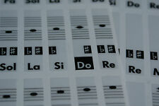 Piano Keyboard Music Note Stickers (for all types) Solfege Do-Re-Mi-Fa-Sol-La-Si