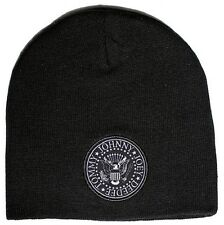 Ramones Presidential Seal Double Logo Beanie Hat Cap Joey, Tommy, Deedee, Johnny
