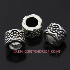 P395 10pc Tibetan Silver Charm Flowers String Spacer Beads accessories wholesale