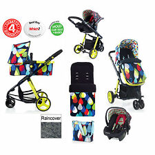 COSATTO GIGGLE PITTER PATTER FLAMINGO TRAVEL SYSTEM PUSHCHAIR 0+CARSEAT CARRYCOT