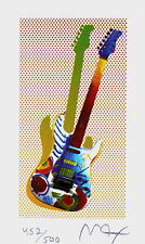 Rock N' Roll Guitar I, Limited Edition Lithograph, Peter Max - Signed with COA