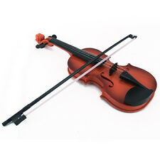Pop Kids Violin& Bow Childs Childrens Musical String Instrument Toy for Practice