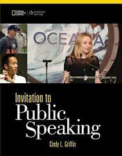 Invitation to Public Speaking by Cindy L. Griffin (2014, Paperback)
