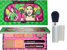 BENEFIT REAL CHEEKY PARTY BLUSHING BEAUTY SET+BRUSH~NEW IN BOX~LIMITED EDITION!