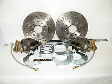 Ford 9 Inch Rear Disc Brake Conversion Kit Drilled & Slotted Rotors Ford Cars