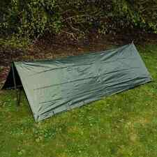 HIGHLANDER WATERPROOF BRITISH ARMY GREEN BASHA -SHELTER TENT BIVI TARPAULIN TARP
