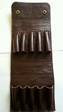 .22 hornet/ 17HMR/17 Hornet. Holds 10.  Bullet wallet. Brown real leather/ studs