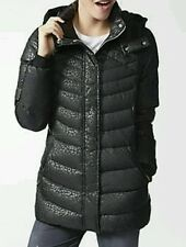 Adidas NEO AOP Down Quilted Puffer Coat Jacket AB3802 Black NEW $150