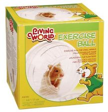 LIVING WORLD MEDIUM SYRIAN HAMSTER CLEAR PLAY EXERCISE BALL WITH STAND 17CM 1725