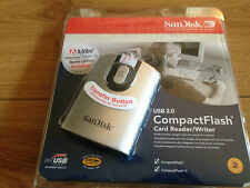 BRAND NEW SANDISK SDDR-92-A15 USB 2.0 COMPACT FLASH CARD READER WRITER