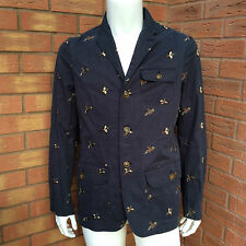 BARBOUR Heritage Collection Navy Blue Ardmore Giacca / Blazer Taglia M RETAIL £ 269