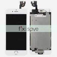 White LCD Lens Display Touch Screen Digitizer Assembly Replacement iPhone 6 4.7""
