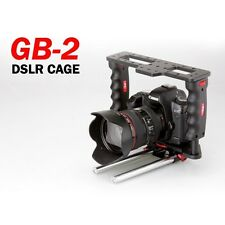 P&C GearBox GB-2 DSLR Camera Video Cage w/ 15mm Rod For Canon 5D Mark II 6D 7D