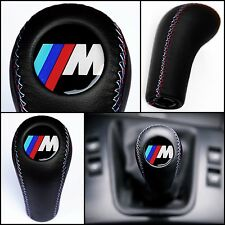 BMW MTECH GEAR STICK SHIFT KNOB E60 E90 E92 E91 E46 E39 E36 E30 M3 M5 M6 LEATHER