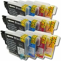 12 Compatible LC985 (LC39) Ink Cartridges for Brother DCP-J315W Printer
