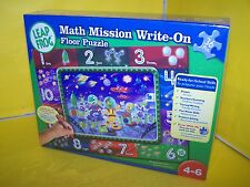 LEAP FROG MATH MISSION WRITE ON FLOOR PUZZLE NEW AND SEALED