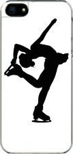 iPhone 5  Winter Sports Figure Skating Pose Designed Sticker on Hard Case Cover