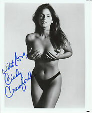 CINDY CRAWFORD 8 X10 TOPLESS HANDS CUPPING BREASTS ! WOW !! WHAT A BODY !! W/COA