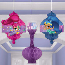 SHIMMER AND SHINE HANGING HONEYCOMB DECORATIONS (3) ~ Birthday Party Supplies