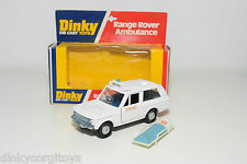 DINKY TOYS 268 RANGE ROVER AMBULANCE VERY NEAR MINT BOXED DARK BLUE INTERIOR!!!