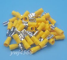 1000Ps Yellow Insulated Female Plug Spade Wire Connector Crimp Terminal FDD5-250