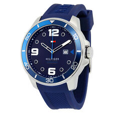Tommy Hilfiger Keith Blue Dial Blue Silicone Mens Watch 1791156