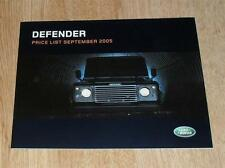 LAND Rover Defender listino prezzi 2005 90 110 PICK UP STATION WAGON County XS 2.4d