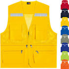 Hi Vis High Viz Visibility Multi Pockets Safety Mesh Vest Reflective Waistcoat